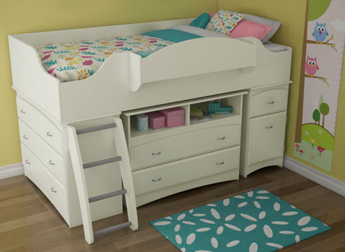 South Shore Imagine Collection Twin Loft Bed Kit Modern Loft Bed