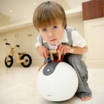 Spherovelo Ride-On Toy Features Removable Stabilizing Balls to Improve Toddler's Balance and Motor Skills