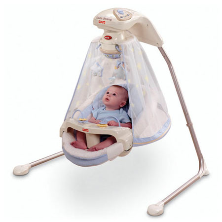 Starlight Cradle Baby Swing Enables Your Baby To Camp Under Stars Right Inside The Room