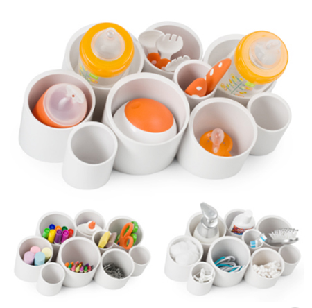 Boon Stash - A Perfect Wall or Countertop Organizer for Your Baby Gears