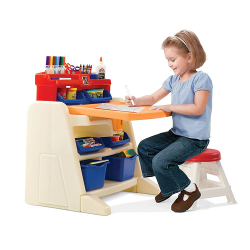 Step2 Flip And Doodle Easel Desk With Stool For Any
