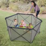 Foldable Summer Infant Pop 'n Play Portable Playard With Waterproof Floor and Metal Frame