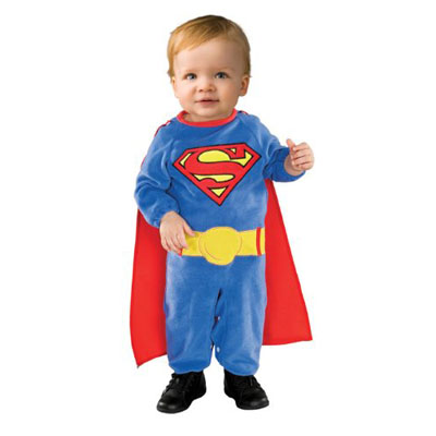 Superman Romper Costume With Removable Cape