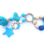 Eco Friendly Teething Toy and Crocheted Ring for Your Baby