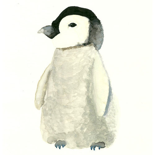 The Cold Fuzzies (Penguin) by Lizzie Bowman - Animal Arts for Baby Nursery