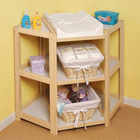 The Diaper Corner Features Various Functionalities And Enhance The Room Decor