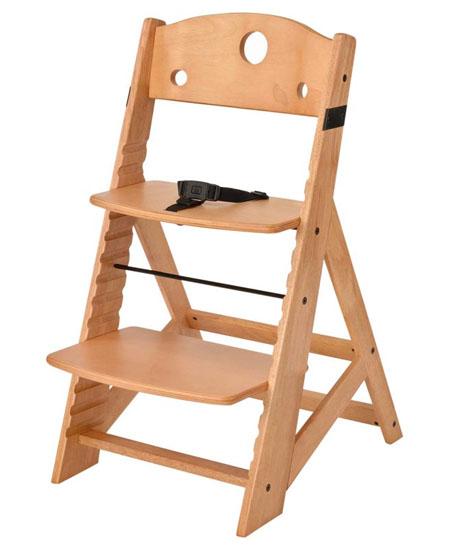 the keekaroo natural height right high chair is a perfect solution