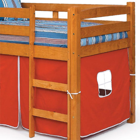 The Twin Loft Bed With Slide Gives Ultimate Comfort And