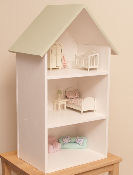 three storied dollhouse shelf