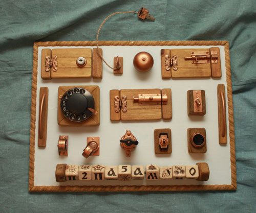 Toddler Busy Board is a Personalized Natural Sensory Board to Improve Toddler's Motor Skill