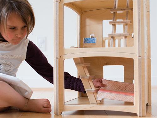 Toideloi StackHouse Modern Modular Wooden Dollhouse