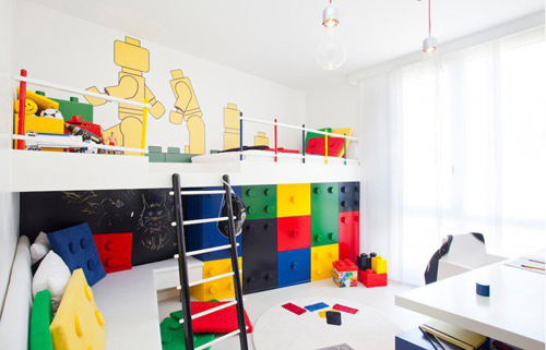 Connected Box Kids Room a.k.a Lego themed bedroom by Pebble Design