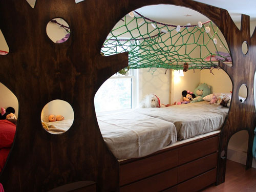 Indoor Treehouse Themed Bedroom by Adam Hadlock