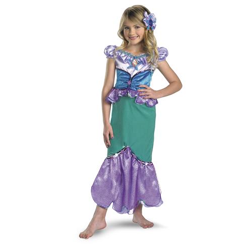 Little Mermaid Embellished Princess Ariel Girl's Costume - Top 20 Halloween Kids Costumes
