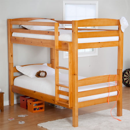 Twin Bunk Bed Allows Your Kids to Sleep Close | Modern Baby ...