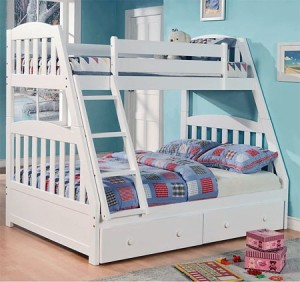 Twin Over Full Bunk Bed Features Two Functional Beds In One For Your