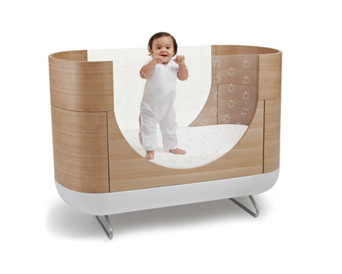 Modern ubabub eco pod cot grows with your children for Japanese furniture brisbane