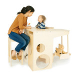 UpUp Play Tower : A Standing Desk, A High Chair, Jungle Gym, and Play Space in One