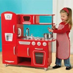Vintage Play Kitchen Gives A Wide Range Of Imaginary Cooking Playing Experience