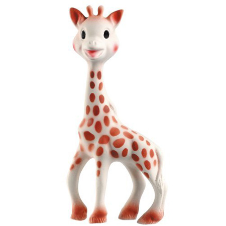 Vulli Sophie Giraffe Teether Is Made Of 100% Natural Rubber and Food Paint