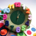Wall Felt Clock-An Excellent Element for Child's Room