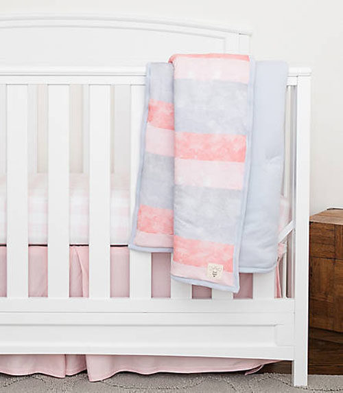 Watercolor Stripe Reversible Quilt - Soft Quilt for Baby Sensitive Skin