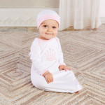 Beautiful Welcome Home Little Princess 2-piece Layette Set to Welcome Little Princess