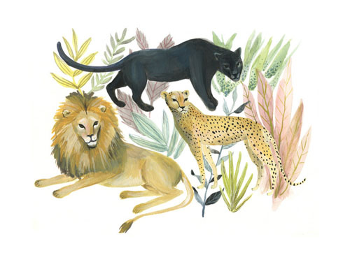 Wild Cats by Emilie Simpson - Animal Arts for Baby Nursery