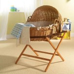 It's back to natural basics with this willow crib set