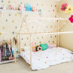 Cool Wooden House Bed Frame Allows Children to Create Personal Tent Bed