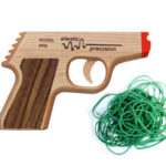 Wooden PPK Rubber Band Gun : Load Up to 5 Bands and Fire Away!