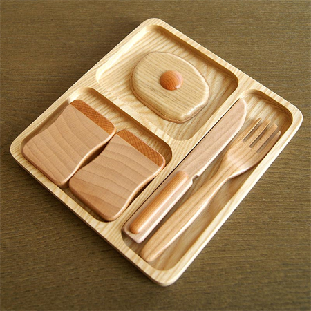 Playful Wooden Toy Breakfast Set for Active Kids