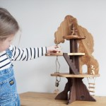 This Wooden Tree House Toy Is Handcrafted From 100% Reclaimed Ash And Walnut Hardwoods