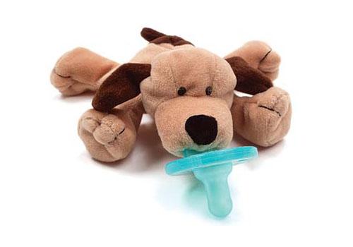 Wubbanub Plush Toy Pacifier - Brown Puppy