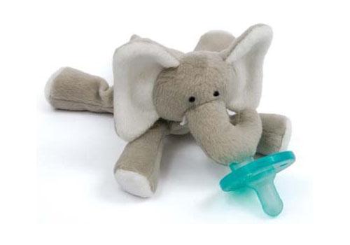 Wubbanub Plush Toy Pacifier - Elephant