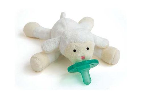Wubbanub Plush Toy Pacifier - Lamb