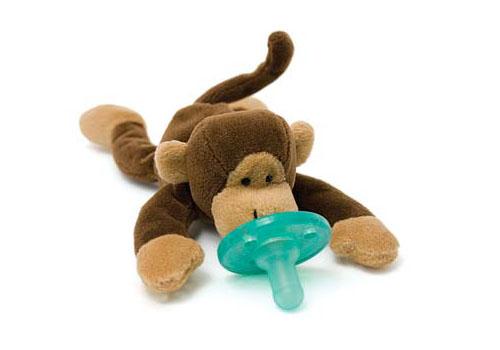 Wubbanub Plush Toy Pacifier - Monkey