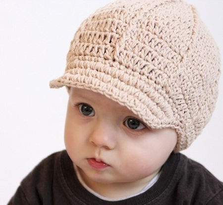 Free Crochet Pattern Toddler Newsboy Cap : NEWBORN NEWSBOY CAP CROCHET PATTERN CROCHET PATTERNS