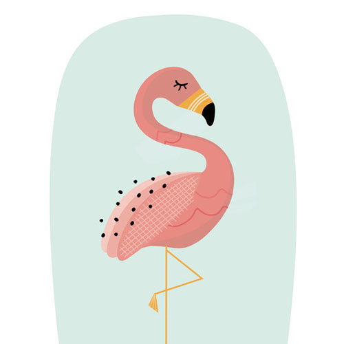 Zen Flamingo by Erica Krystek - Animal Arts for Baby Nursery
