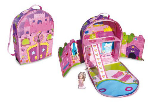 ZipBin Dollhouse Backpack